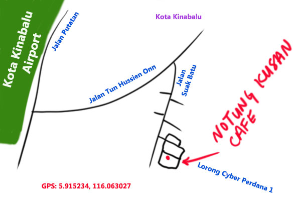 map to Notung Kusan Cafe