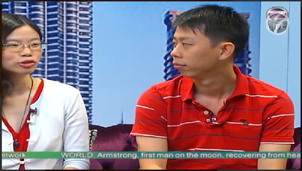 here's silly me on NTV 7's Breakfast Show