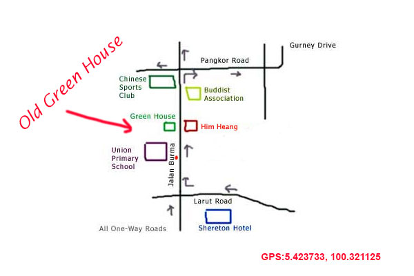 map to old green house kopitiam