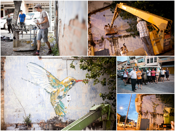Hummingbird at Ipoh, Ernest Zacharevic