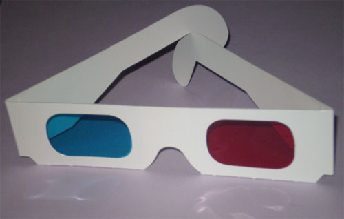old school 3d glasses