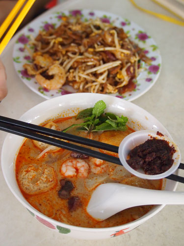 Penang Curry mee and Char Kuih Teow