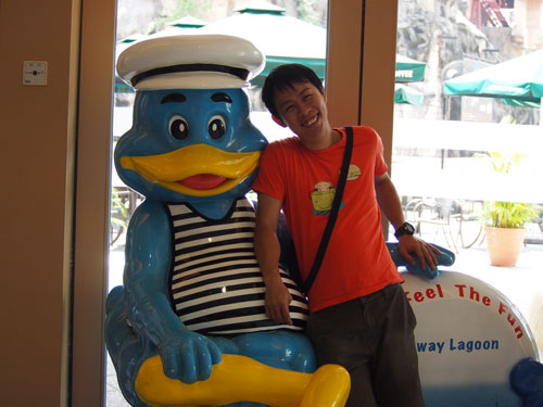 Mr. Sunway duck and me