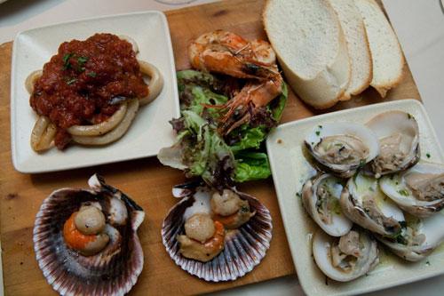 seafood antipasti platter