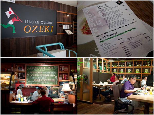 Ozeki Italian Cuisine at Wisma Cosway is non-halal