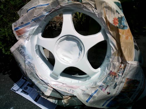 DIY Spray Paint Sports Rims