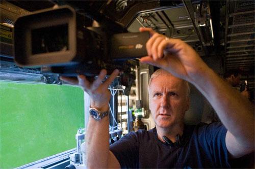James Cameron shooting Avatar with Panasonic 3D camera