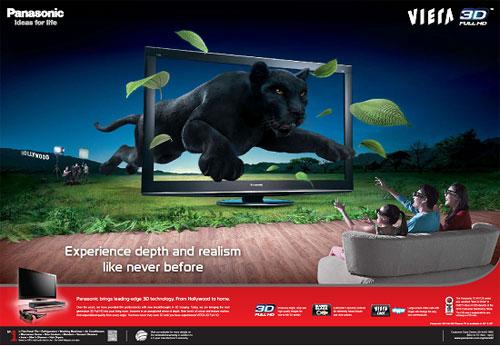 Panasonic Viera 3D poster