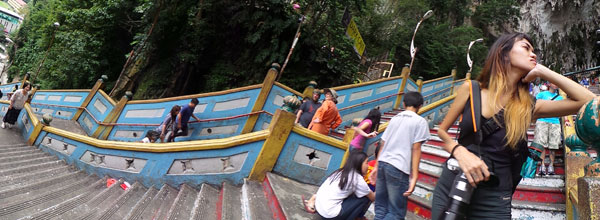 panorama at Batu Caves