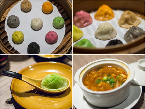 modern interpretation of xiao long bao, hot and sour soup