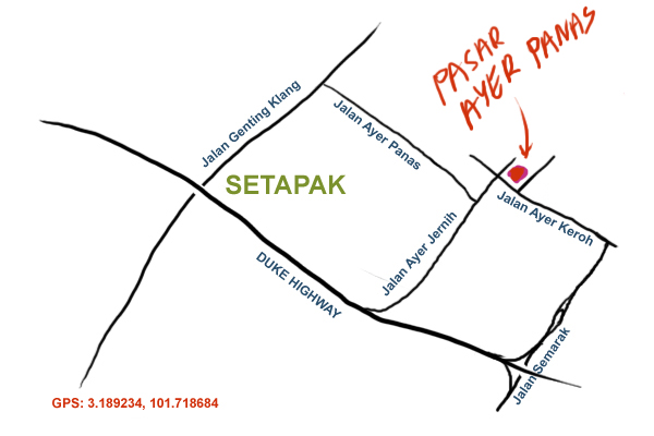 map to pasar ayer panas
