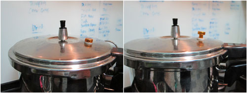 pressure cooker working!