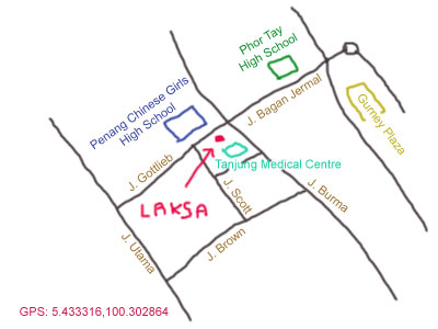 map of taman emas kopitiam at jalan gottlieb