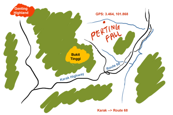 map to Perting Fall
