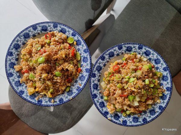 home made petai fried rice