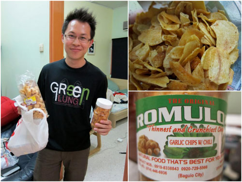 Romulo's garlic chips with chili