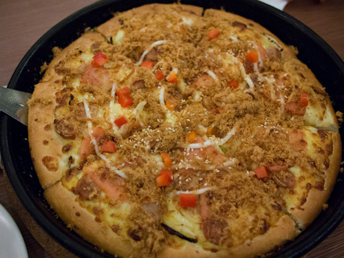 the glorious Triple Chicken Sensation pizza from Pizza Hut