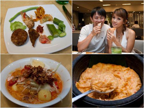 ulam, KY & Haze, laksa lemak, and tempoyak (fermented durian)