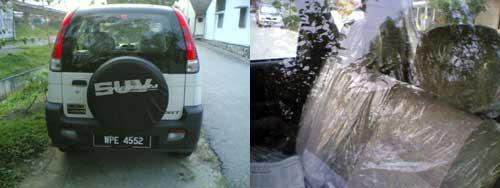 Perodua Kembara car seat plastic wrapping