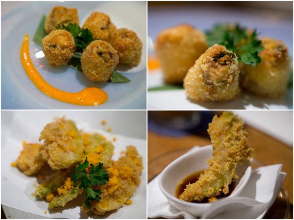 tempura surprise, kabocha tempura