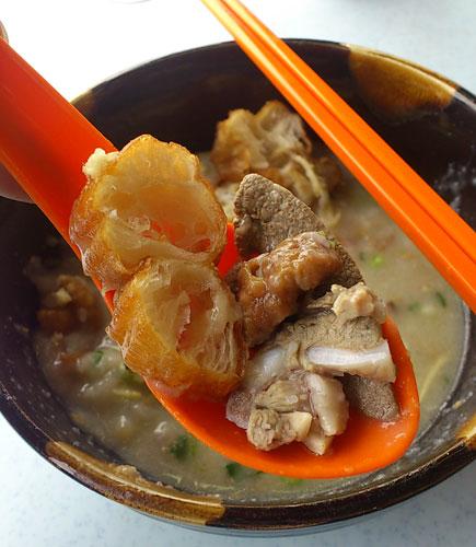 yau char kuai, pork, crispy intestine, liver