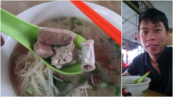 kidney, minced pork ball, intestine, and liver with meesuah