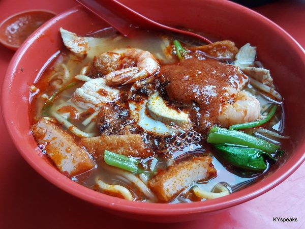 glorious bowl of Penang style prawn mee