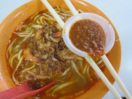 Prawn Mee at restaurant O&amp;S 
