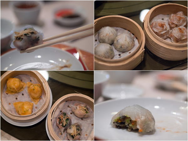 four types of steamed dimsum