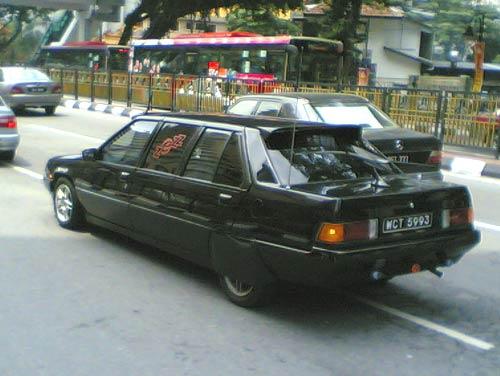 Black color Proton Saga Limousine