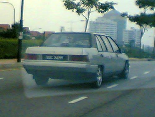 Silver color Proton Saga Limousine
