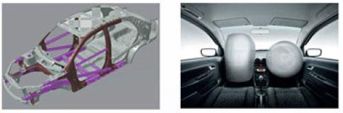 Proton Saga FLX with rigid body and airbag