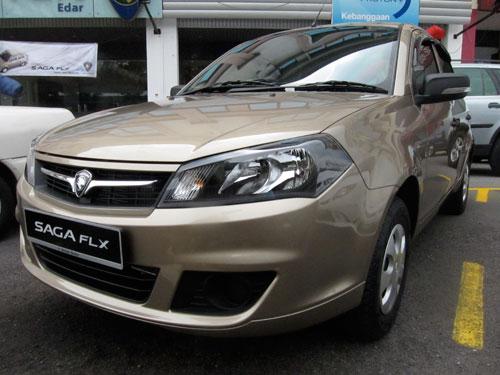 Proton Saga FLX front view