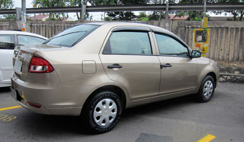 Proton Saga FLX rear view