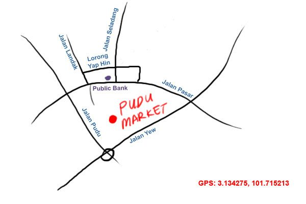 map to Pudu Market