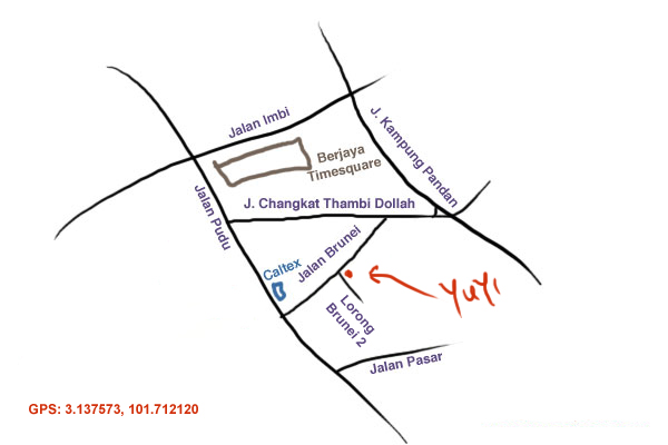 map to Restaurant Yuyi at Pudu