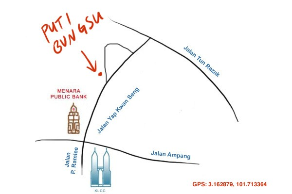 map to Puti Bungsu Batam, Lorong Yap Kwan Seng