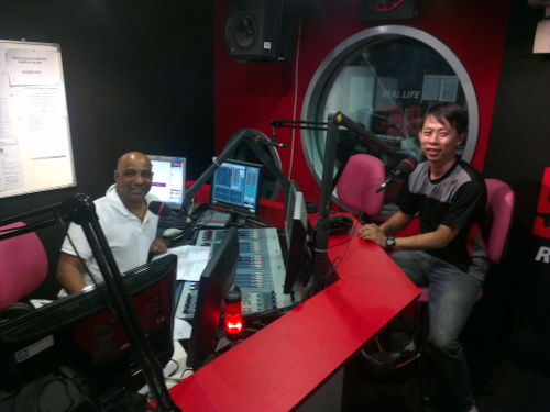 interview with Radio 24 FM 93.9 with Gerard