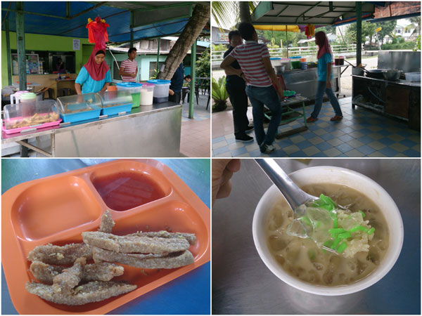 we stopped by a kampung style cendol and keropok lekor