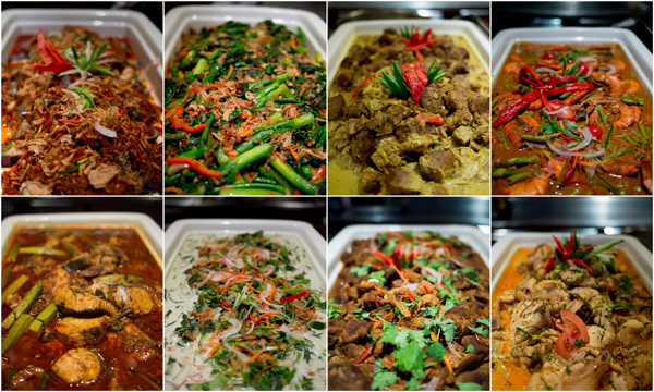 traditional main dishes from different states in Malaysia