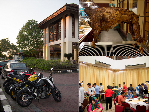 Ramadan buffet at Bangi Golf Resort, naturally we rode there