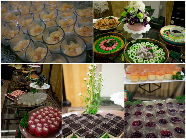 traditional kuih and western style desserts
