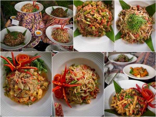 Asian appetizer - kerabu hati ayam, kerabu mangga muda, kerabu kacang botol etc