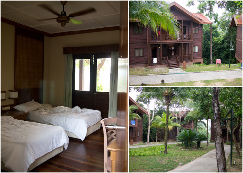 the chalet style rooms at Redang Island Resort