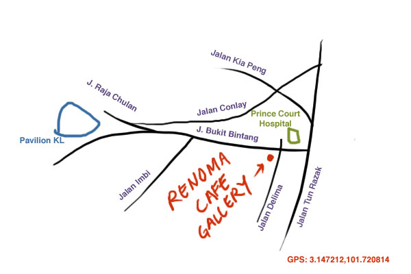 Renoma Cafe Gallery KL map