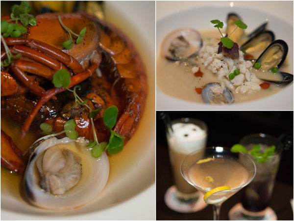 consomme of kangaroo island marron; veloute of crustacean & stone crab
