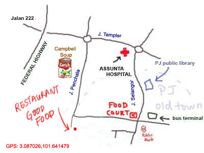 map to Restaurant Good Food in PJ Old Town