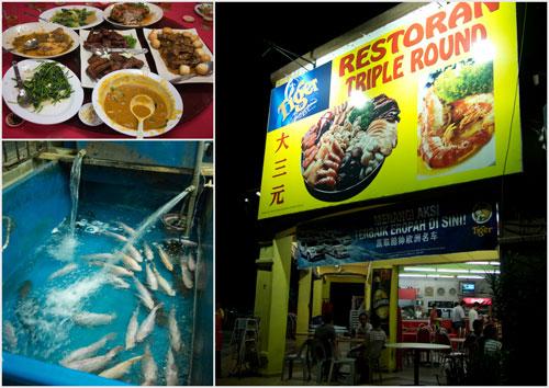 Restuarant Triple Round at Bukit Beruntung, fresh seafood