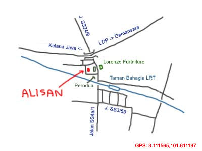 map to restaurant arlison at Petaling Jaya