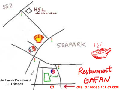 map to restaurant gafan